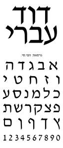 ismar david david ivri font