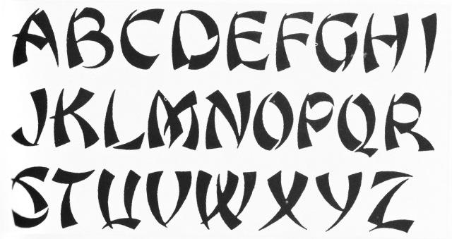 רוס פ. ג׳ורג׳, גופן צ׳ופ סואי. מקור: לוק דברואה: http://luc.devroye.org/fonts-46142.html
